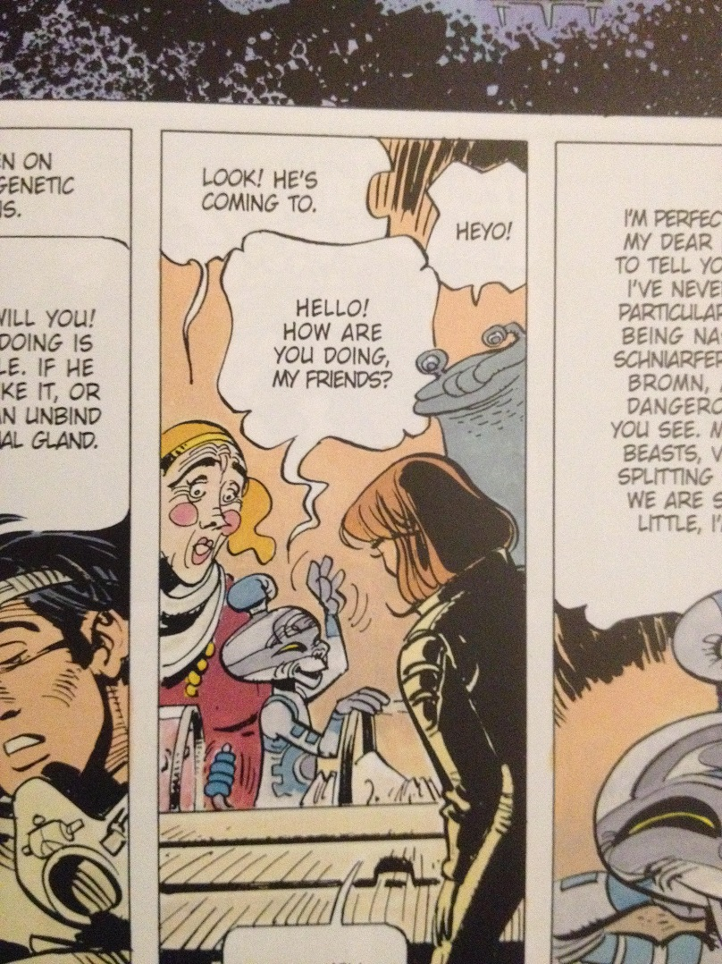 a pic of the bande dessinée Valérian and Laureline by writer Pierre Christin and artist Jean-Claude Mézières